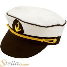 Chapeau marin capitaine officier militaire naval Adulte Brame Déguisement Fête