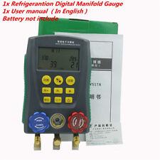 1x DLG AC Manifold Digital Manifold Gauge Refrigeration System HVAC
