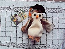 Ty Beanie Baby Baby WISE Class of 98 Brown Owl And Collectible Card Series II