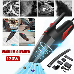 120W Car Vacuum Cleaner Wet Dry 12V Cordless Handheld Home Portable Dust Clean