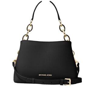 MICHAEL KORS Sofia Portia Large Black Satchel/Bag Leather