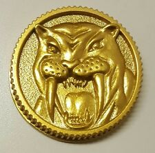Mighty Morphin Power Rangers MMPR Legacy  Morpher Coin Metal Sabertooth Tiger