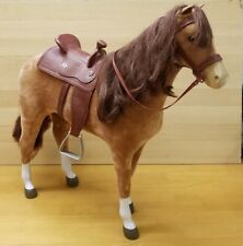 American Girl Chestnut Horse With Saddle Retired 2016