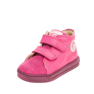 FALCOTTO By NATURINO Baby Leather Sneakers Size 23 UK 6 US 7 Logo Details