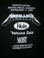 vtg 90s MOLSON POLAR BEACH PARTY CONCERT T SHIRT Metallica Hole Veruca Salt RARE