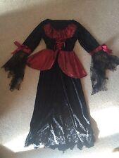 Girls Costume Dress Halloween Gothic Horror Age 9-11