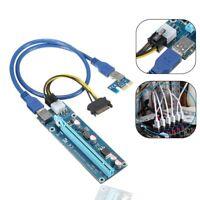 PCI-E 1x to 16x Powered USB3.0 GPU Riser Extender Adapter Card Ethereum Mining