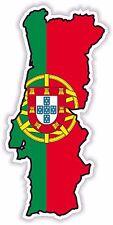Portugal Map Flag Sticker for Locker Hard Hat Laptop Tablet Fridge Car Bumper