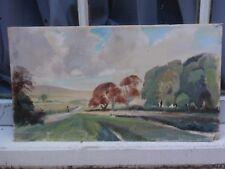 D un Sanders Tournez à Droite Devil's Dyke original signé peinture à l'aquarelle sur carton