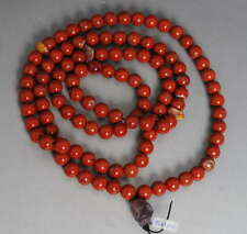 108 Chicken blood red Agate Prayer Beads! Rare Rosary