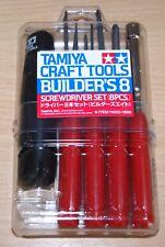 Tamiya 74023 Builder's 8 Screwdriver Set (8 Pcs.) for Radio Controll Cars, NIP