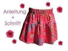 Schnitt + Nähanleitung Stufenrock Gr. 74-146 als Ebook