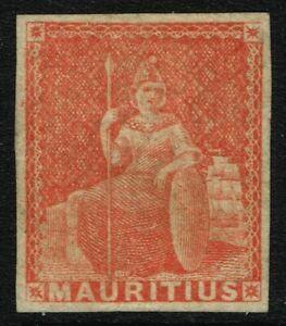 SG 28 MAURITIUS 1858 - (6d) VERMILION - UNUSED