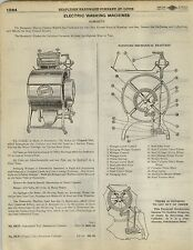 1923 Paper AD Humanity Electric Clothes Washing Machine Diagram Parts List