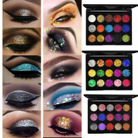 3er Pack Glitter 15 Farben Lidschatten Palette Wasserdichtes Lidschatten Pulver