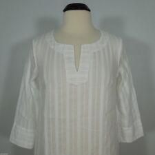 MERONA  Women's White Blouse, Split V-Neck size M