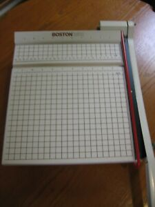 """Boston 2612 Paper Cutter 12"""" Trimmer Heavy Duty Guillotine Very Sharp Barely Use"""