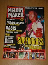 MELODY MAKER 1999 DEC 1 SUPERGRASS OASIS OFFSPRING FOO