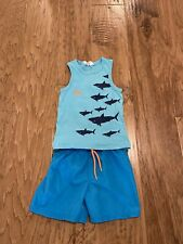 Swim Trunk Shorts Tank Top For Boys Size 4-6