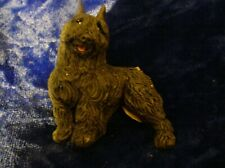 Dog breed figurine magnet Bouvier Des Flandres detailed realistic
