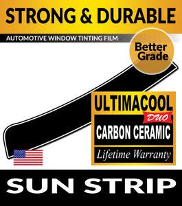UCD PRECUT SUN STRIP WINDOW TINTING TINT FILM FOR BMW 640i 4DR GRAN COUPE 13-19
