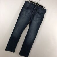 7 For All Mankind 29x31 29 Standard Jeans Medium Blue Wash Button Fly Mens P*
