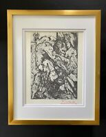 PABLO PICASSO AWESOME 1955 SIGNED SUPERB PRINT MATTED 11 X 14 + LIST $895