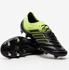"MENS ADIDAS COPA 19.1 SG FOOTBALL BOOTS UK SIZE 7.5 RRP £169.95 ""BLACK/YELLOW"""