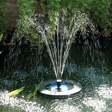 Solar floating pond fountain with LED light, remote C and rechargeable battery.