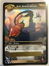 WOW TCG - X-51 Nether-Rocket unscratched Loot Card
