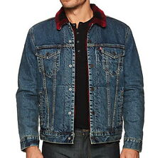 Levi's Men's Red Plaid Sherpa Lined Trucker Jacket - XL