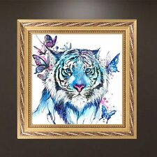 DIY Tiger Butterfly 5D Diamond Embroidery Painting Cross Stitch Craft Home Decor