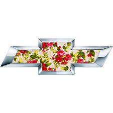 2 Silverado Floral Universal Chevy Bowtie Vinyl Sheets Emblem Overlay