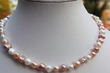 BBR3B 52cm Süßwasser Zucht Perlen Schmuck Perlenkette Halsketten Ketten Collier