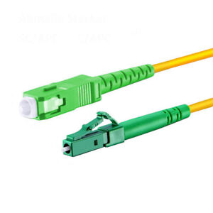 15m LWL LC APC - SC APC Patchkabel Simplex OS2 9/125 Glasfaser Lichtwellenleiter