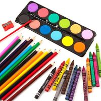 38Pc JUMBO ART SET CRAYONS/PENCILS/PAINTS Childrens/Kids Drawing Colour Craft