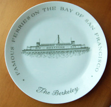 San Francisco Bay ferry collector plate~The Berkeley~by Fairmont china-NR