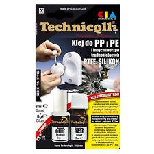 Technicqll PP PE PTFE Polypropylene Polyethylene Adhesive Glue 2 x 8 mL X935