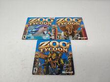 Zoo Tycoon Collection:Original, Marine Mania, Dinosaur Digs Complete Originals!