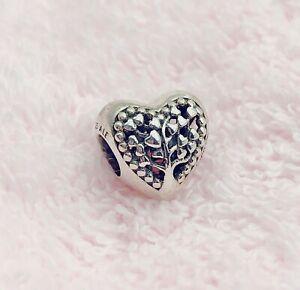 Authentic Pandora Family Tree Heart Charm Silver 925 ALE  797058