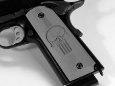 1911 Grips Full Size Ambi Safety Punisher Skull Gray Colt Kimber Springfield