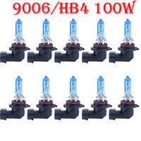 10x9006/HB4 6000K 100W Xenon Gas Halogen Headlight Super White Light Bulbs HS