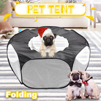 Pet Dog Cat Folding Tent Bed Puppy House Indoor Outdoor Teepee Kennel  AU