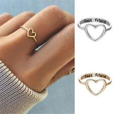 Fashion Best Friend Peach Heart Shaped Ring Friendship Rings For Women Jewelry