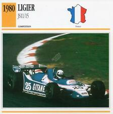 1980 LIGIER JS11/JS15 Racing Classic Car Photo/Info Maxi Card