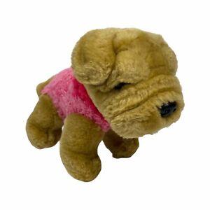 Toys R Us Animal Alley Shar Pei Puppy Dog Pink Sweater Plush Stuffed Animal 2000