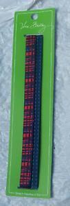 VERA BRADLEY Stretch Headband Set in Blue Bandana #14236-286 NIP & Smoke Free
