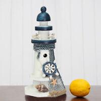 Mediterranean Wooden Light House Tower Nautical Starfish Shell Lifebuoy