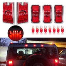 Red Lens Rear LED Top Roof Cab Marker Lights for Hummer H2/H2 SUT 2003-2009 5Pcs