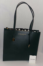 $395 New MARC JACOBS NEW YORK TOTE LEATHER Hobo Large Satchel Bag KOMBU GREEN